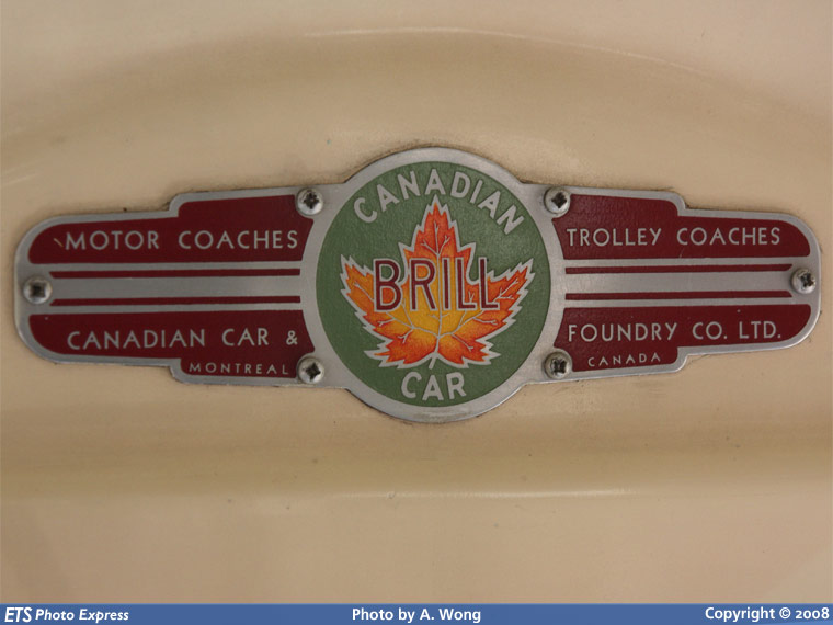 Canadian Car and Foundry Brill logo plate