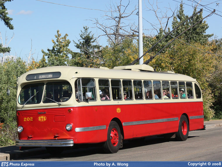 Canadian Car and Foundry T-48A Edmonton Transit System 202-a