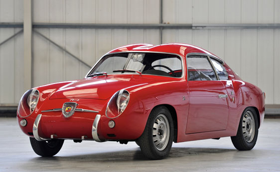 Fiat Abarth 750 GT Double Bubble coupe by Zagato