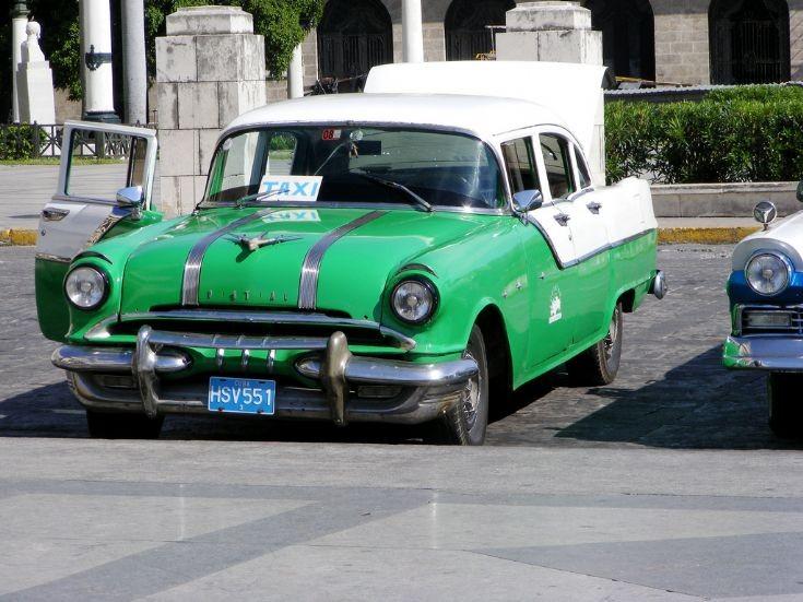 Pontiac 2 taxi in Havana, Cuba