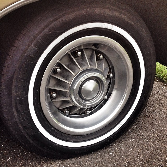 Pontiac 8-Lug Rim. Full size Pontiacs from 1960 to 1968 featured these unique, finned, 8 bolt rims, which aided in the cooling of the drum brakes.