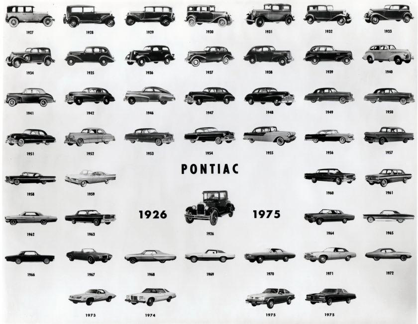 pontiac evolution 1926-1975