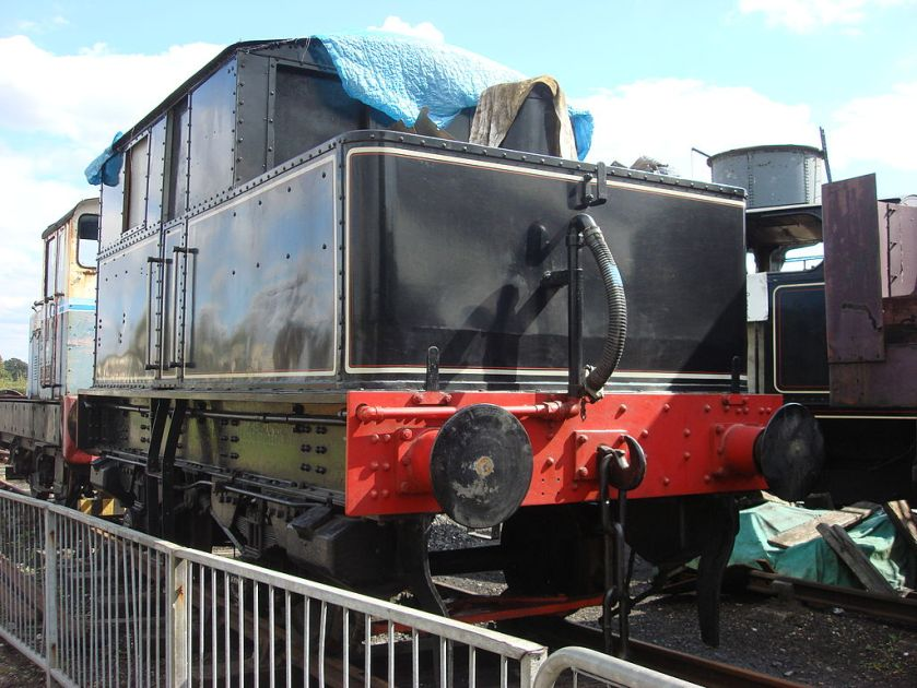 Sentinel 0-4-0 No. 6515 Isebrook at the Buckinghamshire Railway Centre