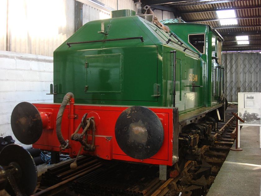 Sentinel 0-4-0 No. 9537 Susan at the Buckinghamshire Railway Centre