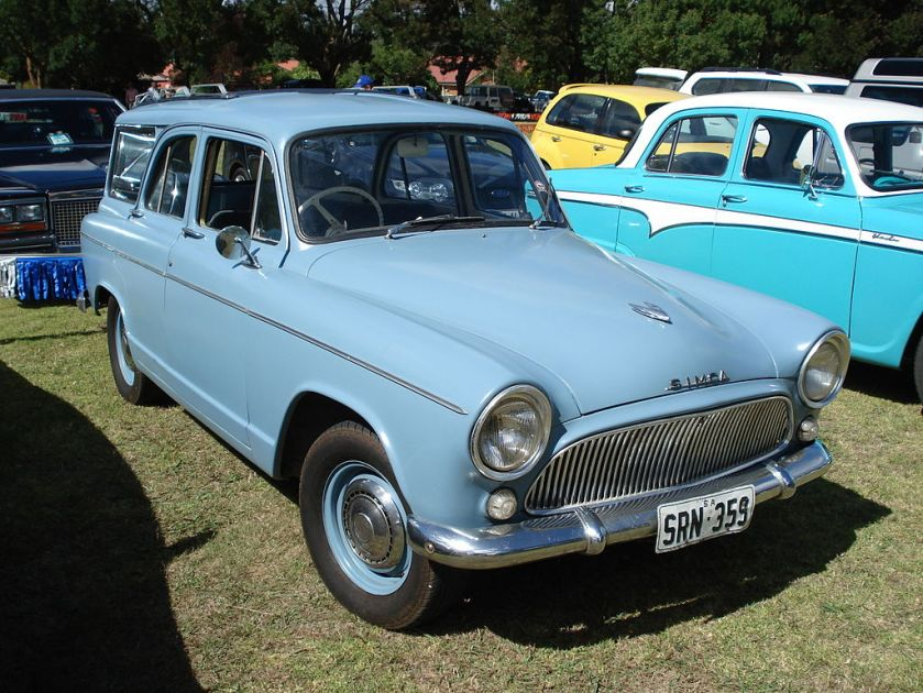 Simca P60 Aronde Station Wagon was developed by Chrysler Australia