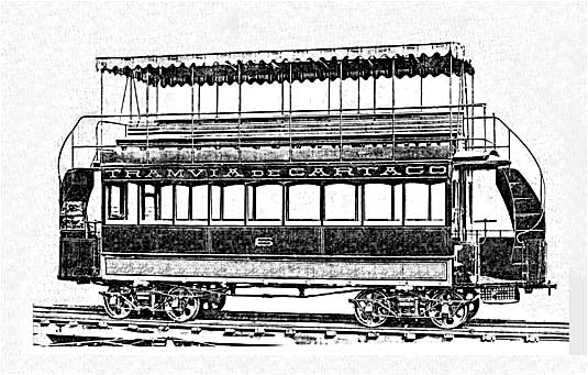 Trams Cartago line from J. G. Brill Co. in Philadelphia