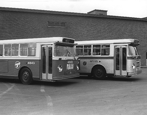 Two 1960 Canadian-Car-Brill Buses
