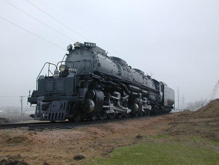 Union Pacific Big Boy 4023, Omaha (Nebraska), 13 mei 2001.