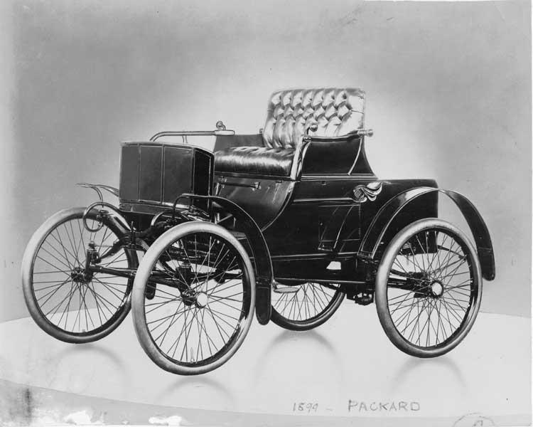 1899 Packard Model A Runabout, Wagen Nr. 1 (Werkbild, Anfang November 1899)