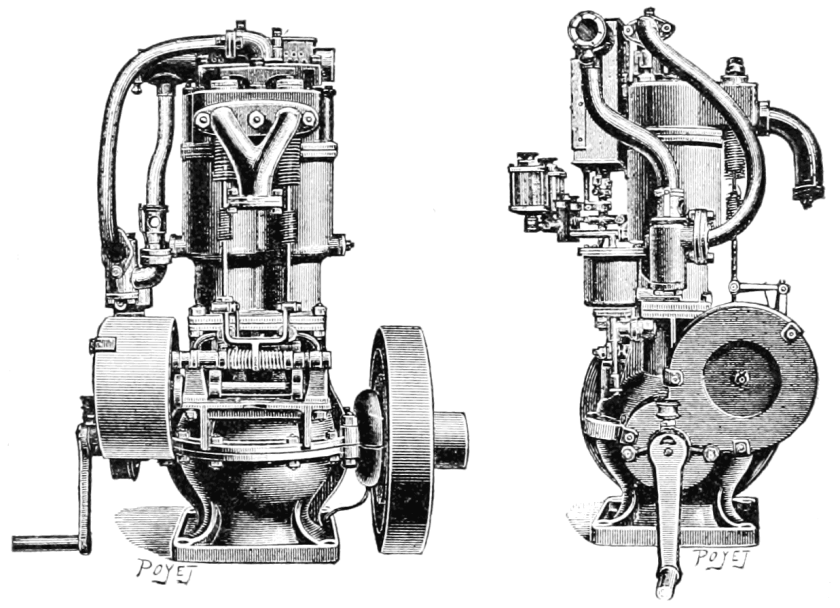 1900 Panhard et Levassor water-cooled 2-cylinder automobile engine