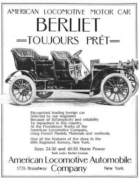 1906 Berliet auto usa