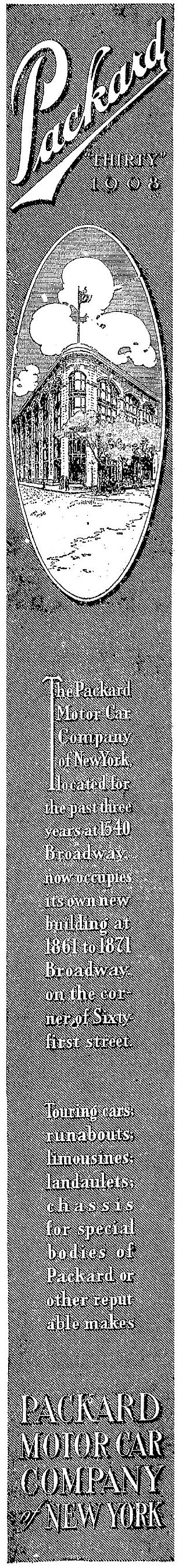 1907 Packard ad The New York Times 1907-11-06