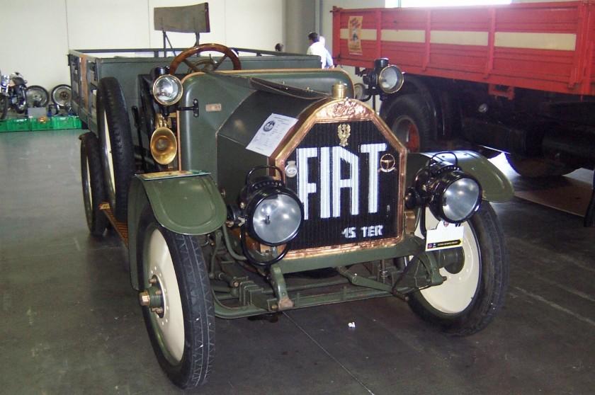 1911-20 FIAT 15 Ter in allestimento VTT, 4 cilindri in linea, 4.398 cm3