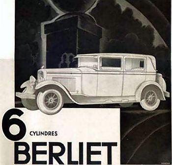 1930 Berliet 6cyl reklame