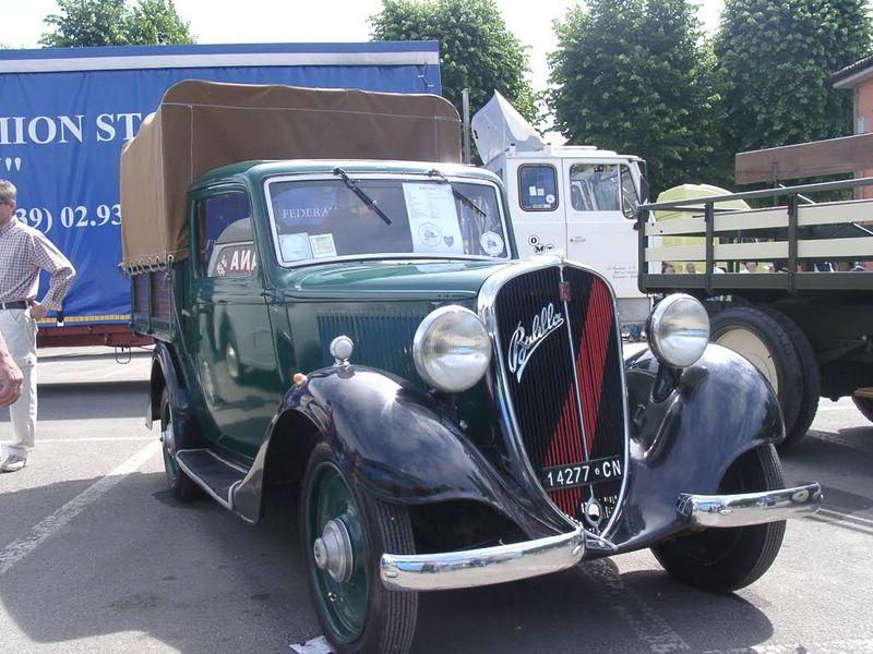 1930 FIAT Ballila bâchée