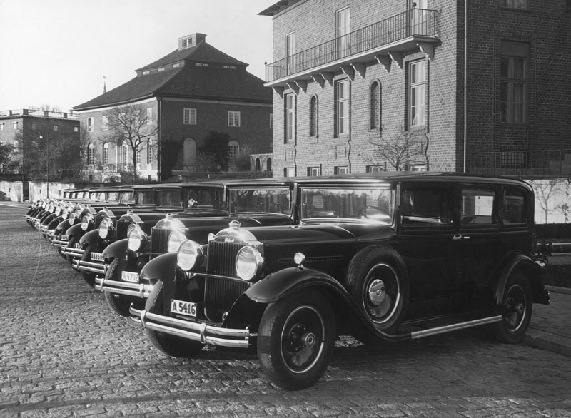 1930's Packard Eight hyrbilar under tidigt 1930-tal, i Diplomatstaden, Stockholm