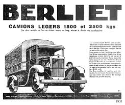 1931 Berliet ad