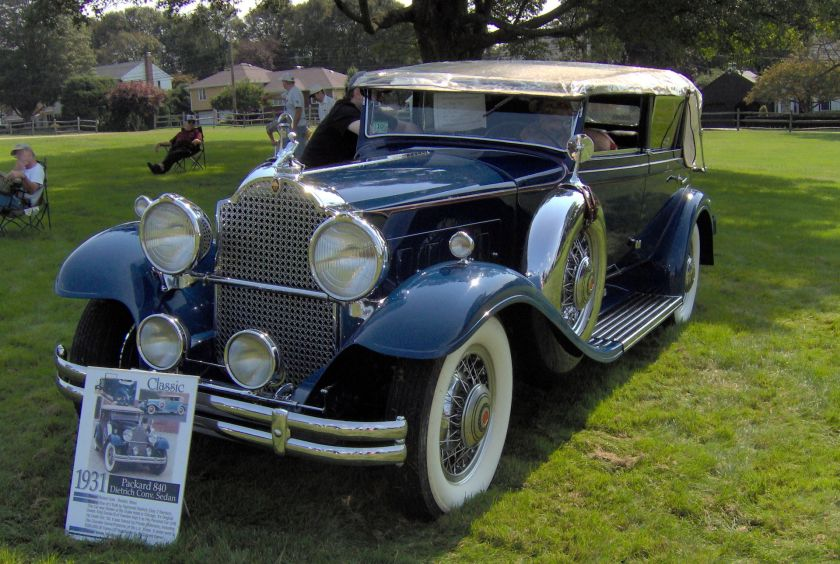 1931 Packard Individual Custom Eight 840 Convertible Sedan von Dietrich