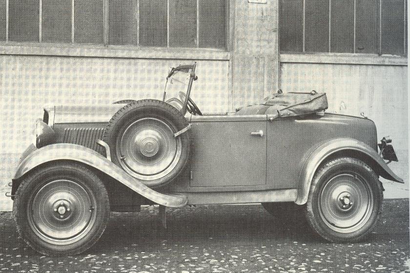 1932 Fiat 508 Balilla Spider Militare