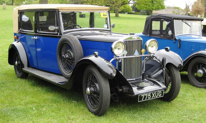 1932 Sunbeam saloon registered July 2194 cc