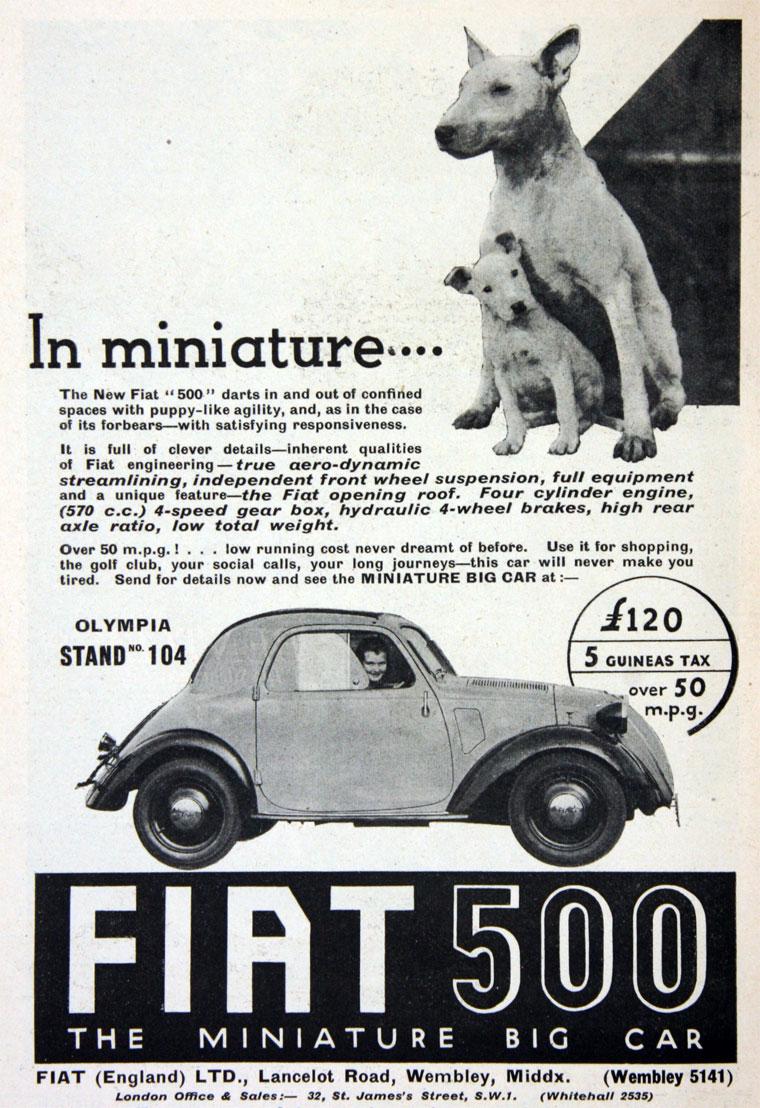 1936 FIAT October model 500a