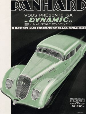 1936 Panhard Dynamic advert