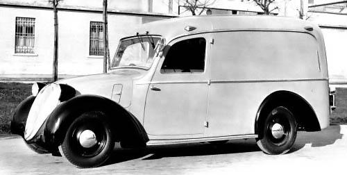 1938 Fiat 508 L 1100 Furgone Viberti Source