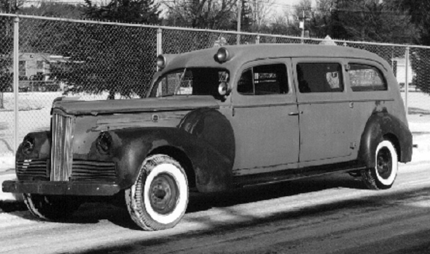 1942 Packard End-Loading Limousine-Style Ambulance with coach work by Henney