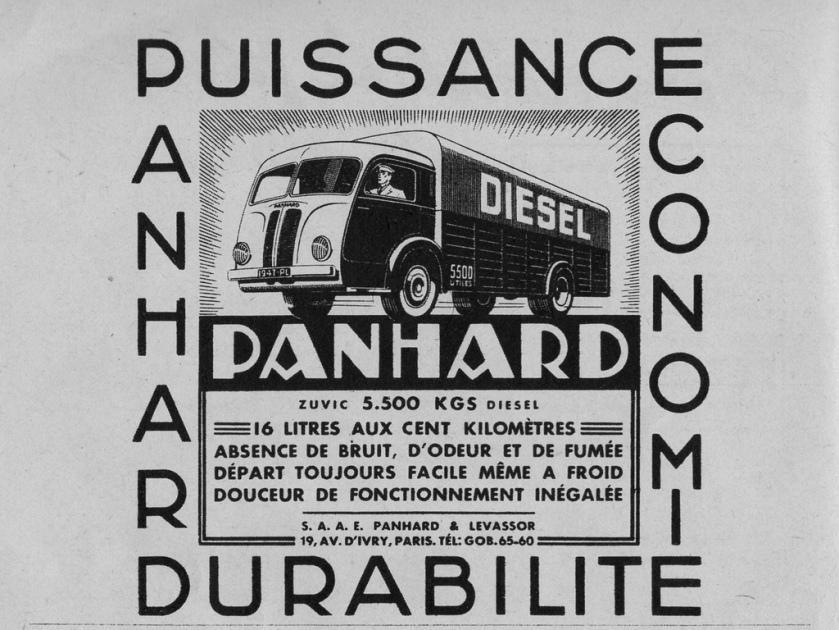 1947 PANHARD Pub Camions