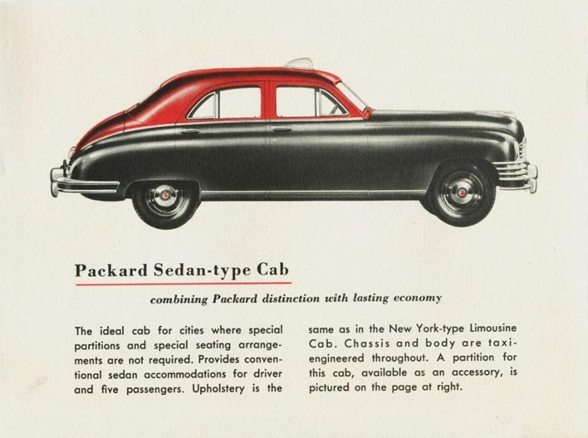 1948 Packard Sedan-Type Taxicab
