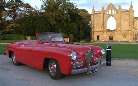 1949 Healey Sportmobile front