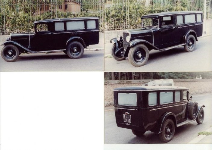 1950 Fiat 514 furgone funebre