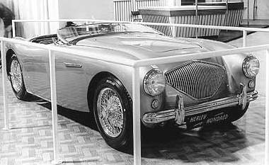 1952 healey 100 earls court
