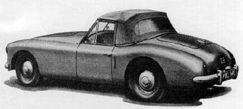 1953 healey sports convertible 3-litre tyl