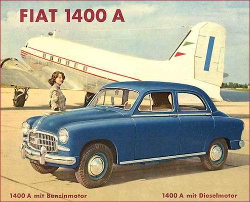 1954 fiat 1400a p5c