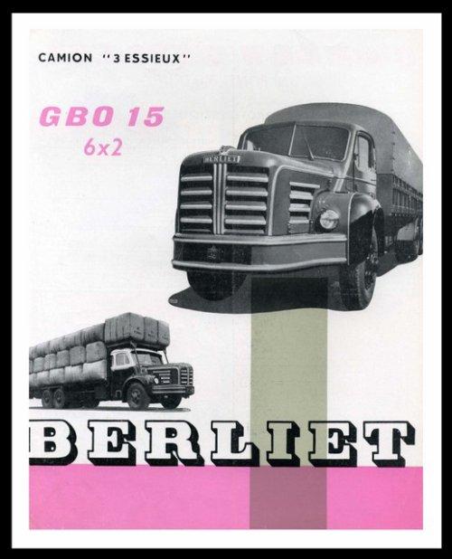 1955 Berliet GBO Ad