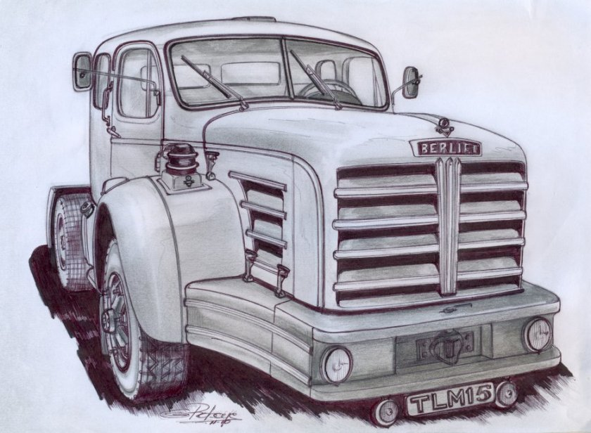 1955 BERLIET TLM 15 Tekening
