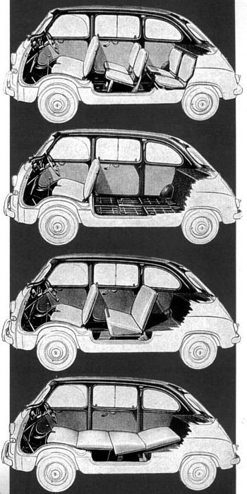 1956 Fiat multipla wnetrze