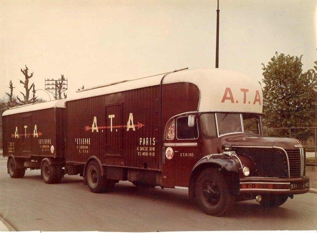 1957 Berliet GLM 10 R, 6 cyl, 150 cv des Transports A.T.A, une beauté roulante
