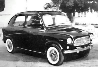 1958 fiat 600 berlineta de pininfarina.