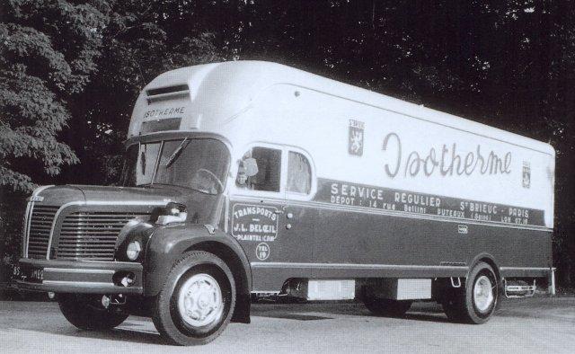 1960 Berliet GLM 1, carrosserie en cabine profilée de Tual et Gourmelen