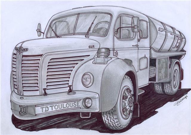 1960 BERLIET GLR 8 M couchette pinardier