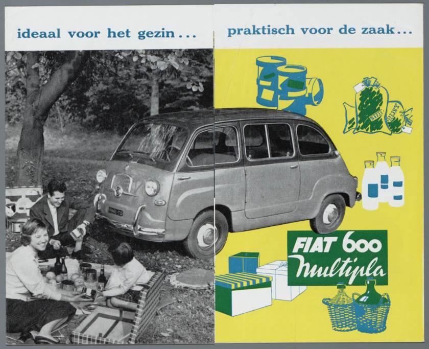 1960 FIAT 600 D Multipla 1960 Brochura a