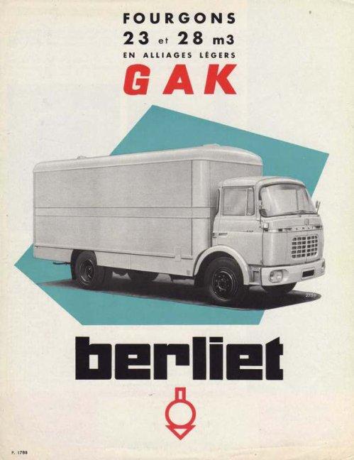 1961 Berliet GAK Ad