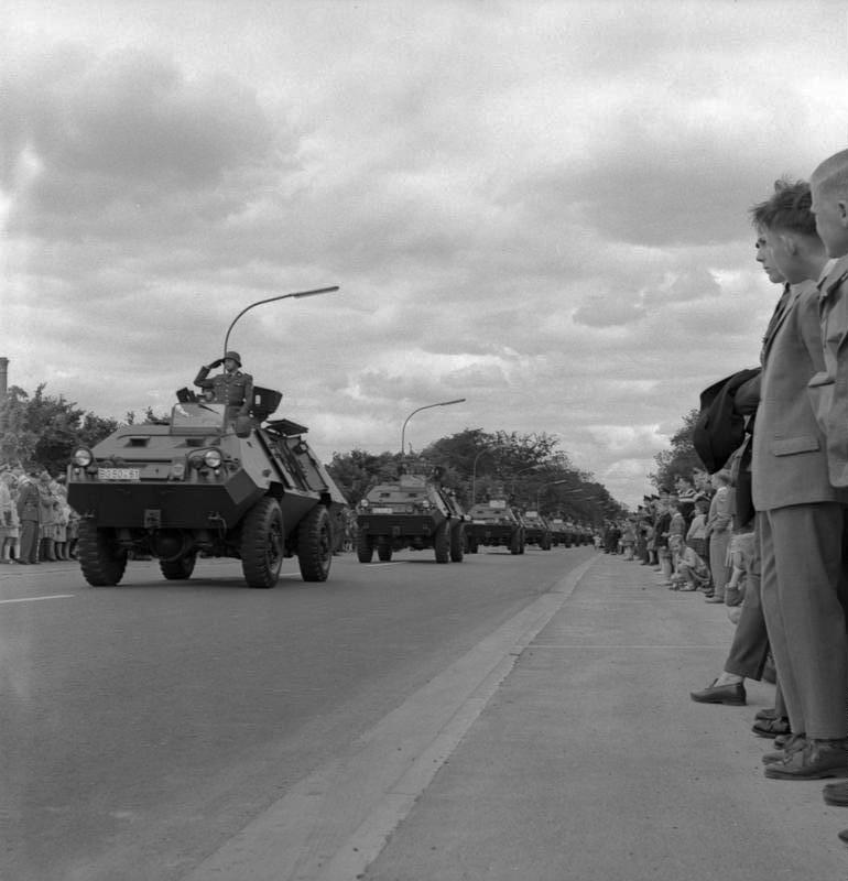 1961 Bundesgrenzschutz mit Mowag Sonderwagen 1