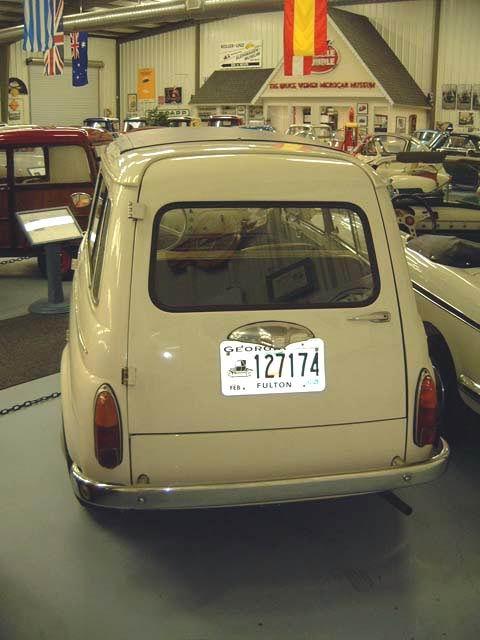 1961 Fiat 500 K acherzijde Giardiniera