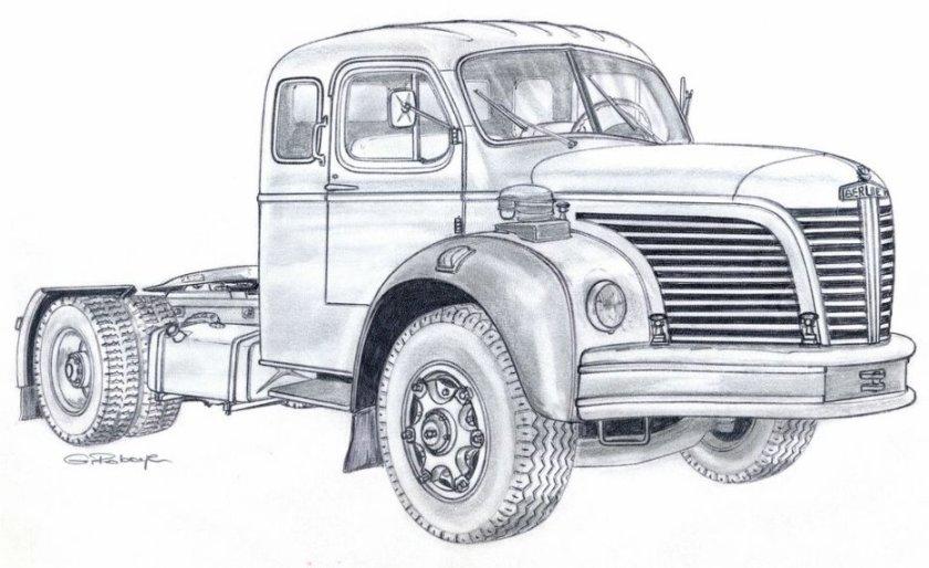 1962 BERLIET TLM 10 R Tekening