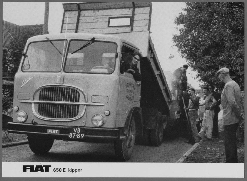 1962 FIAT 650E Kipper Asfaltwagen