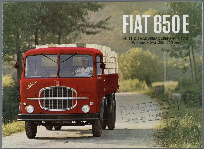 1963 FIAT 650E Bedrijfswagen  Brochure