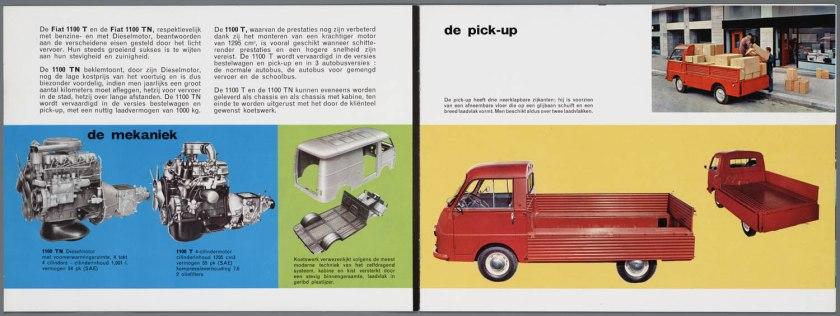 1965 FIAT 1100 T(benzine) TN (Diesel) Bedrijfswagen Brochure a